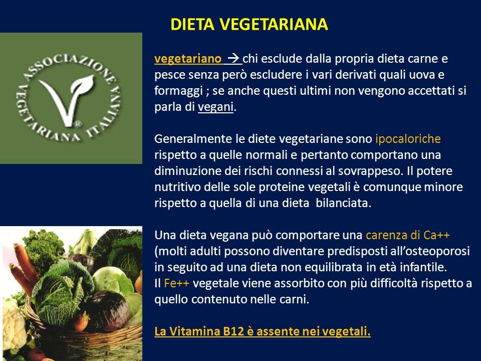 vegetariano chi esclude dalla propria dieta carne e pesce senza però escludere i vari derivati quali uova e formaggi ; se anche questi ultimi non veng