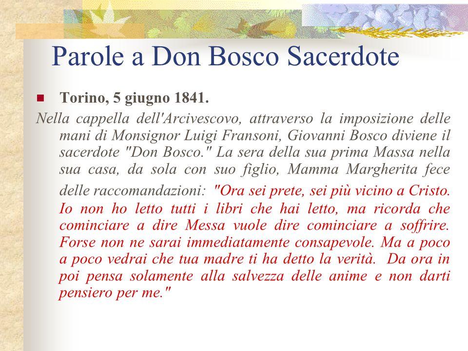 4.Consigli al giovane Giovanni Bosco da sua madre. All'et à di 19 anni Giovanni voleva divenire frate francescano. Detto questo, il curato di Castelnu