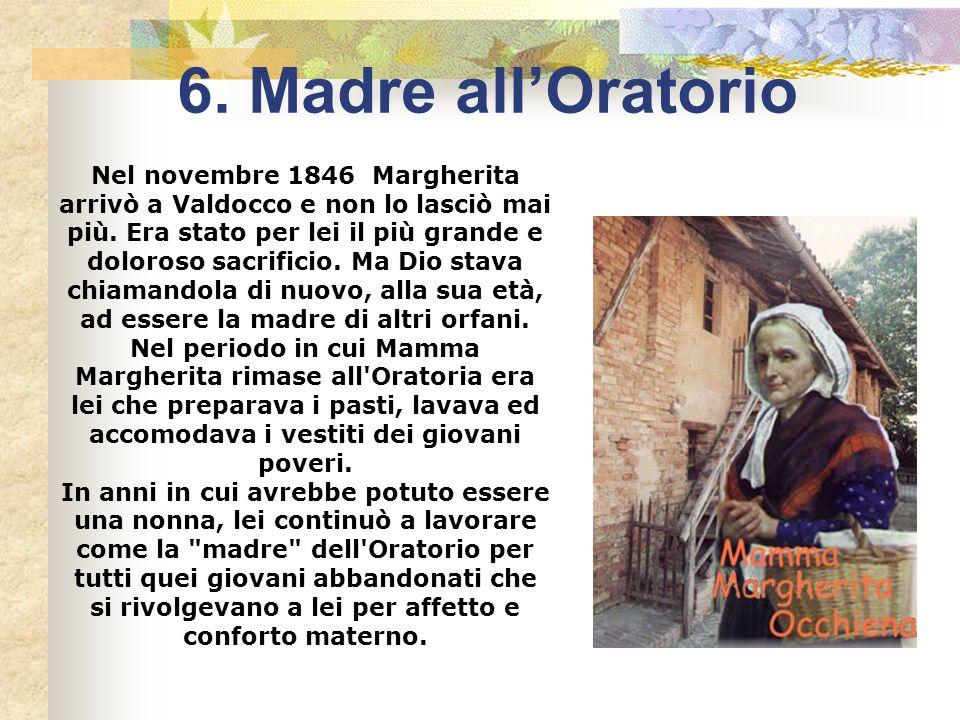 Autunno 1846. Mamma Margherita ha 58 anni, Don Bosco 31. Ai Becchi lui si è appena ripreso dal recente fatale esaurimento, procurato dal lavoro per tr