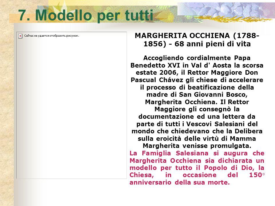 6. Madre allOratorio Nel novembre 1846 Margherita arrivò a Valdocco e non lo lasciò mai più. Era stato per lei il più grande e doloroso sacrificio. Ma
