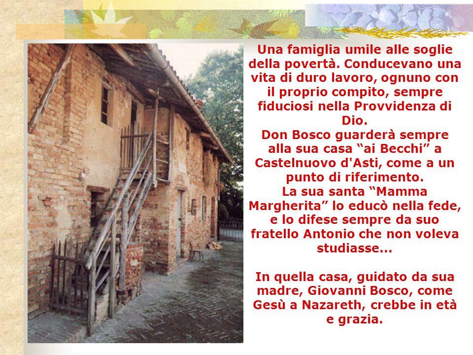 1. Particolari biografici Margherita Occhiena naque il 1° aprile 1788, a Capriglio (Asti), e fu battezzata lo stesso giorno nella sua chiesa parrocchi