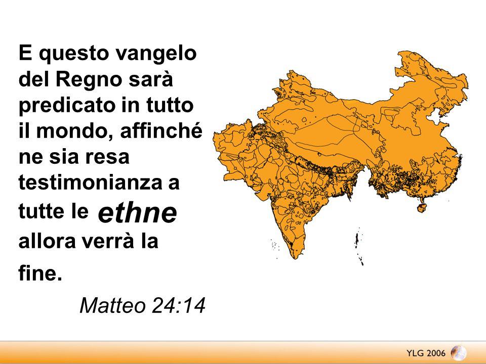 genti; E questo vangelo del Regno sarà predicato in tutto il mondo, affinché ne sia resa testimonianza a tutte le genti; allora verrà la fine.