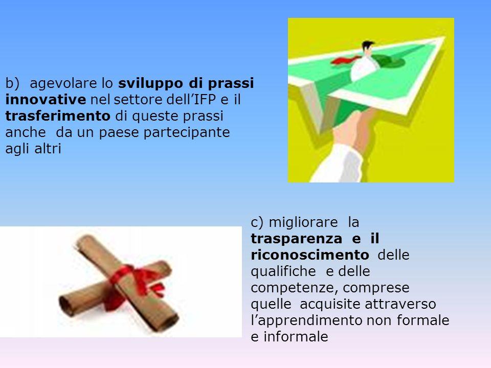 d) incoraggiare lapprendimento delle lingue straniere moderne e) Promuovere lo sviluppo,nel campo dellapprendimento permanente, di contenuti, servizi, soluzioni pedagogiche e prassi innovative basate sulle TIC