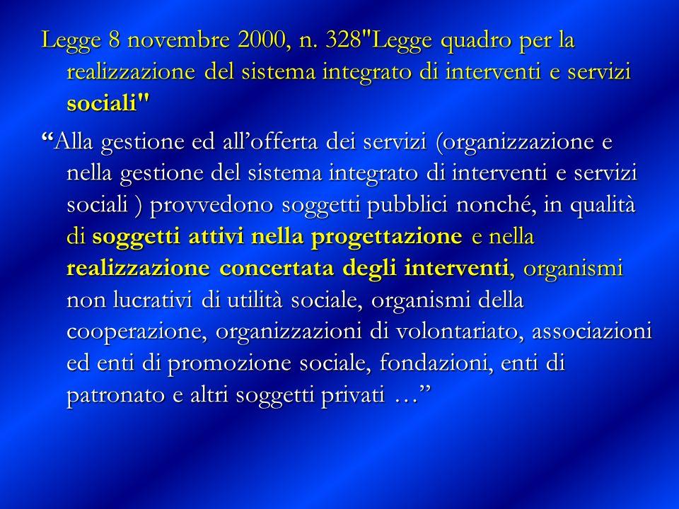 Legge 8 novembre 2000, n. 328