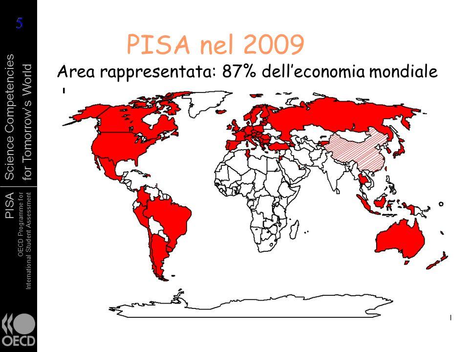 PISA OECD Programme for International Student Assessment Science Competencies for Tomorrows World PISA nel 2009 Area rappresentata: 87% delleconomia m
