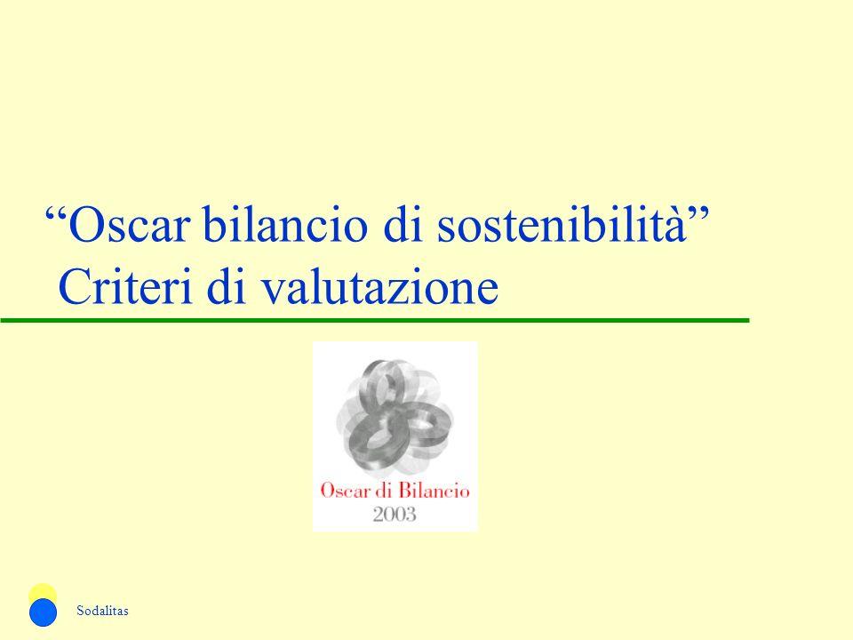 Oscar bilancio di sostenibilità Criteri di valutazione Sodalitas