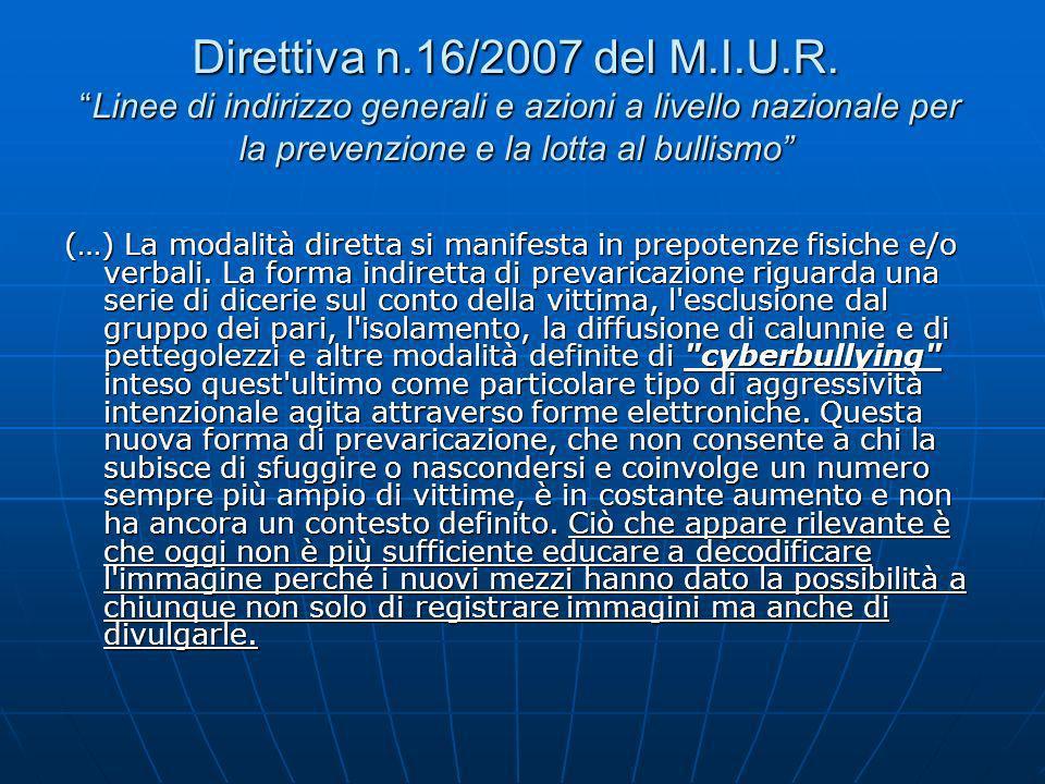 Direttiva n.16/2007 del M.I.U.R.