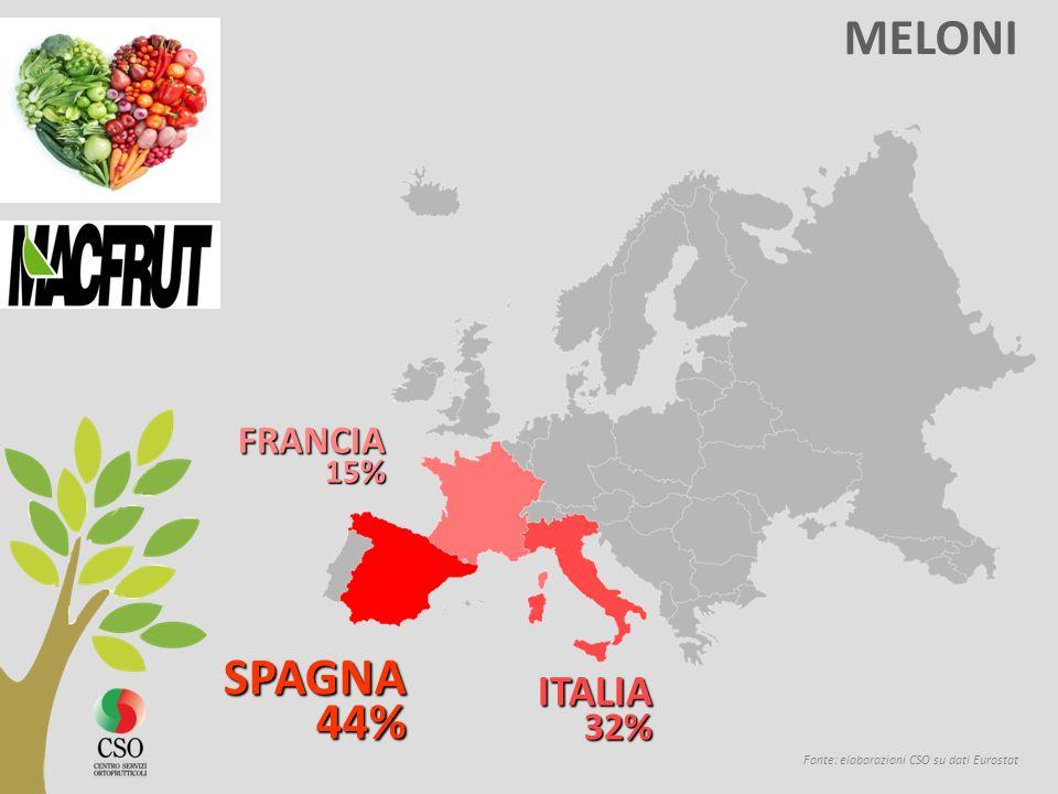 MELONI Fonte: elaborazioni CSO su dati Eurostat SPAGNA 44% 44% ITALIA32% FRANCIA 15 %