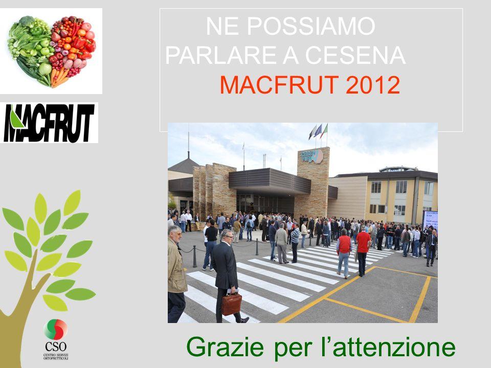 NE POSSIAMO PARLARE A CESENA MACFRUT 2012 Grazie per lattenzione
