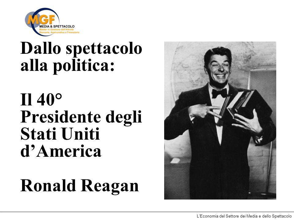 LEconomia del Settore dei Media e dello Spettacolo Dallo spettacolo alla politica: Il 40° Presidente degli Stati Uniti dAmerica Ronald Reagan