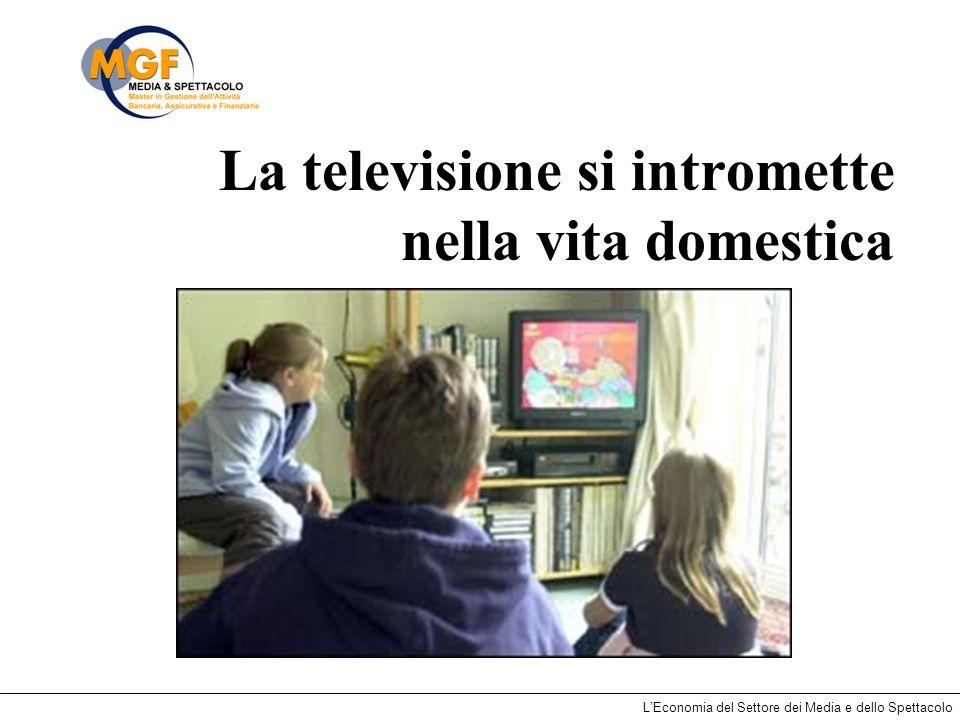 LEconomia del Settore dei Media e dello Spettacolo La televisione si intromette nella vita domestica