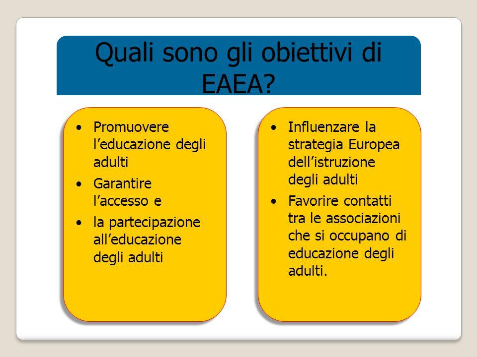 Quali sono gli obiettivi di EAEA.