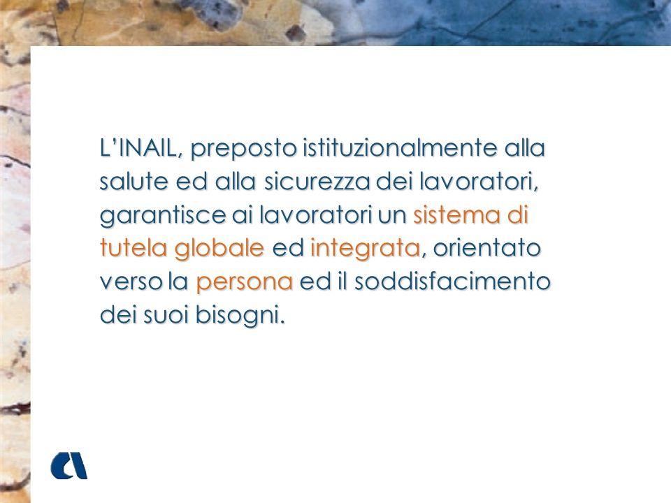 LINAIL, preposto istituzionalmente alla salute ed alla sicurezza dei lavoratori, garantisce ai lavoratori un sistema di tutela globale ed integrata, o
