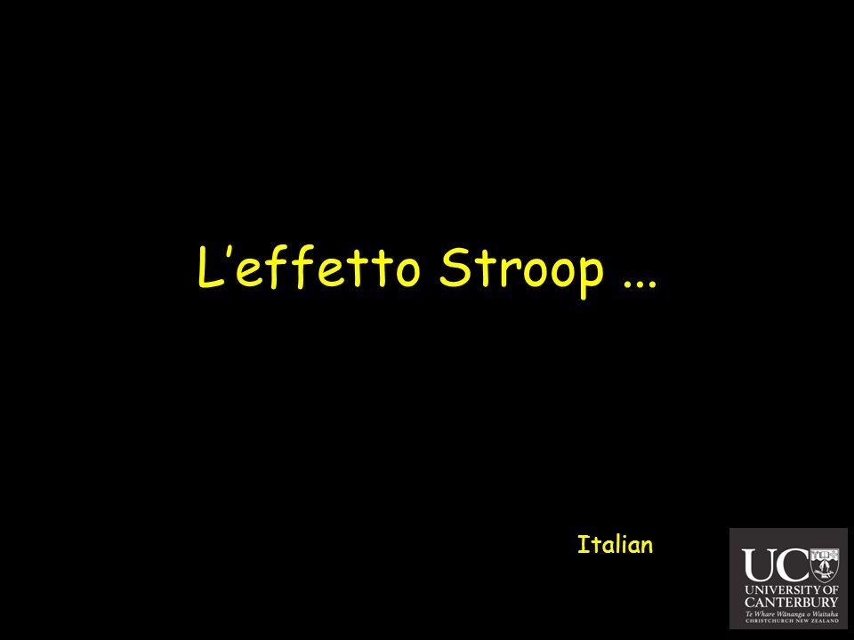 Leffetto Stroop... Italian