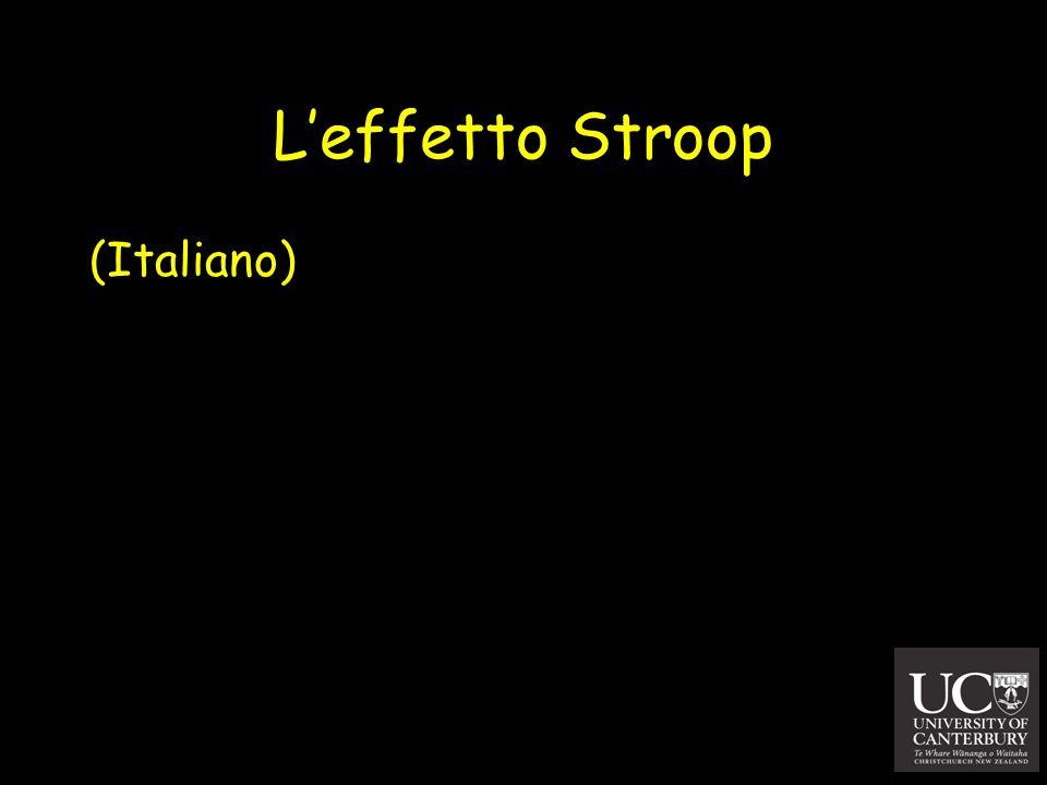 Leffetto Stroop (Italiano)