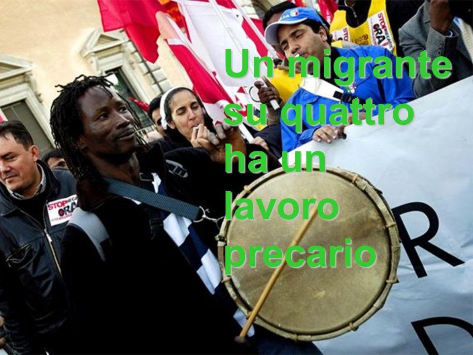 Un migrante su quattro ha un lavoro precario