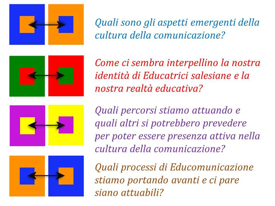 Quali sono gli aspetti emergenti della cultura della comunicazione? Come ci sembra interpellino la nostra identità di Educatrici salesiane e la nostra