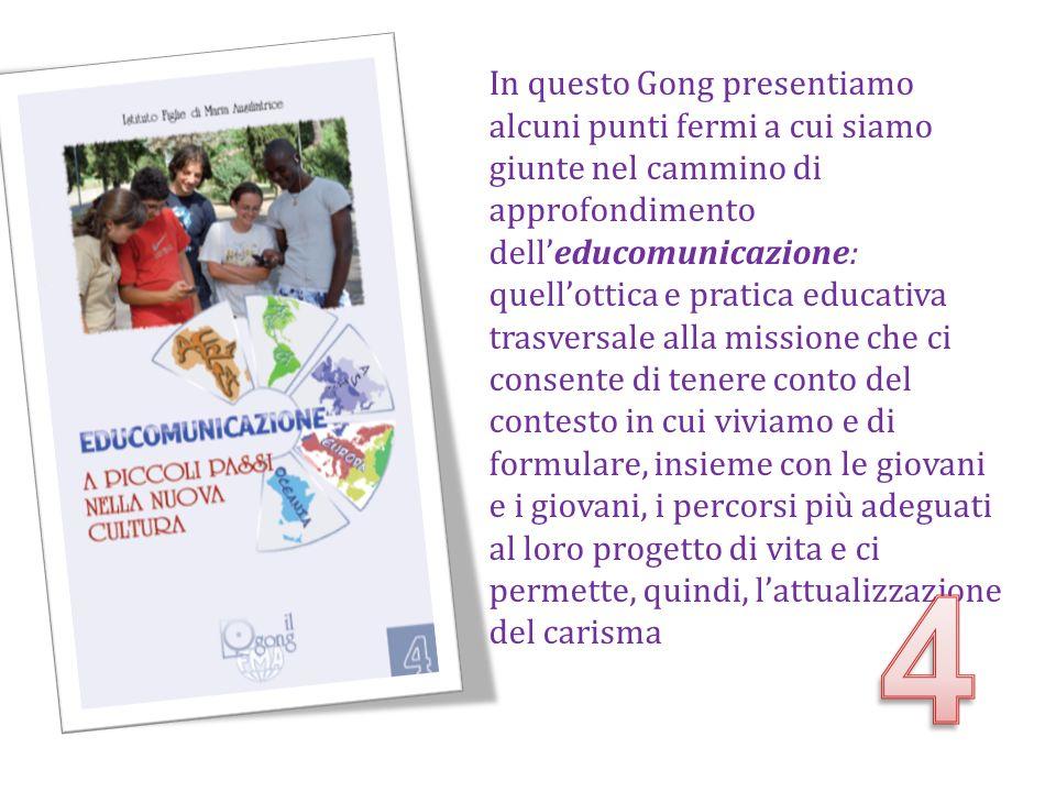 In questo Gong presentiamo alcuni punti fermi a cui siamo giunte nel cammino di approfondimento delleducomunicazione: quellottica e pratica educativa