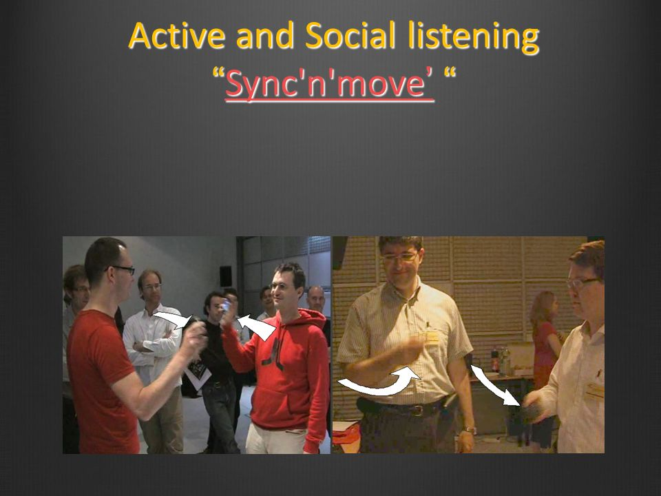 Active and Social listeningSync'n'move Active and Social listeningSync'n'move Sync'n'moveSync'n'move