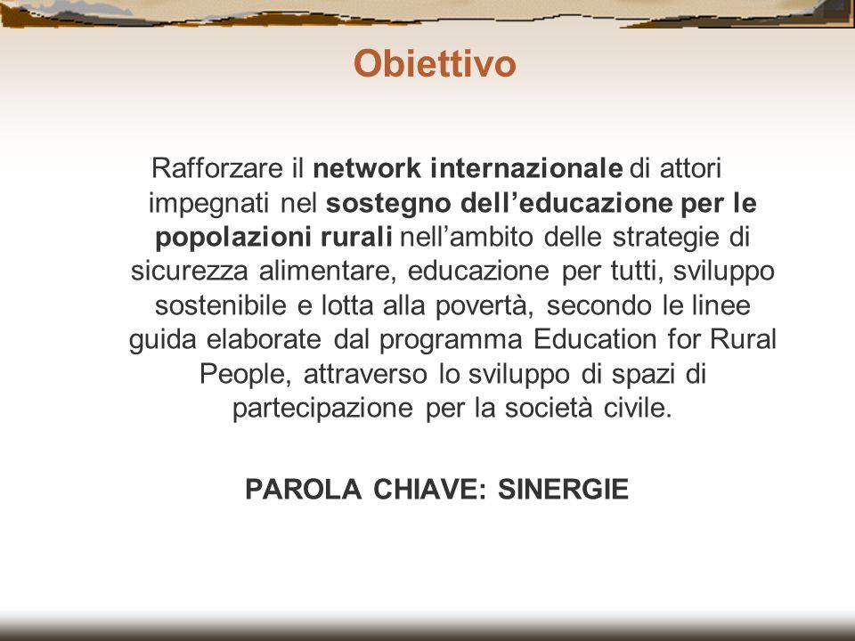 Rafforzare il network internazionale di attori impegnati nel sostegno delleducazione per le popolazioni rurali nellambito delle strategie di sicurezza