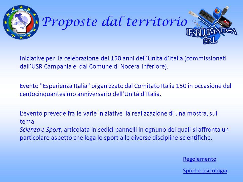 Proposte dal territorio Iniziative per la celebrazione dei 150 anni dellUnità dItalia (commissionati dallUSR Campania e dal Comune di Nocera Inferiore