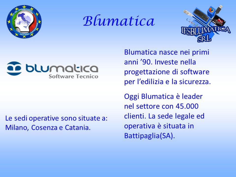 Blumatica Blumatica nasce nei primi anni 90. Investe nella progettazione di software per ledilizia e la sicurezza. Oggi Blumatica è leader nel settore