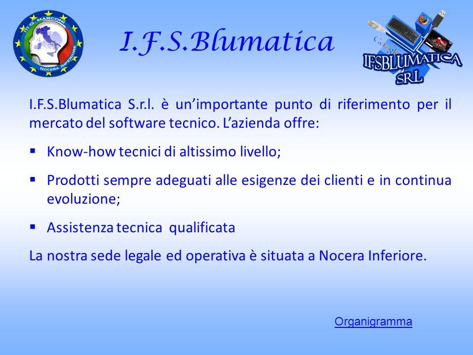I.F.S.Blumatica I.F.S.Blumatica S.r.l. è unimportante punto di riferimento per il mercato del software tecnico. Lazienda offre: Know-how tecnici di al