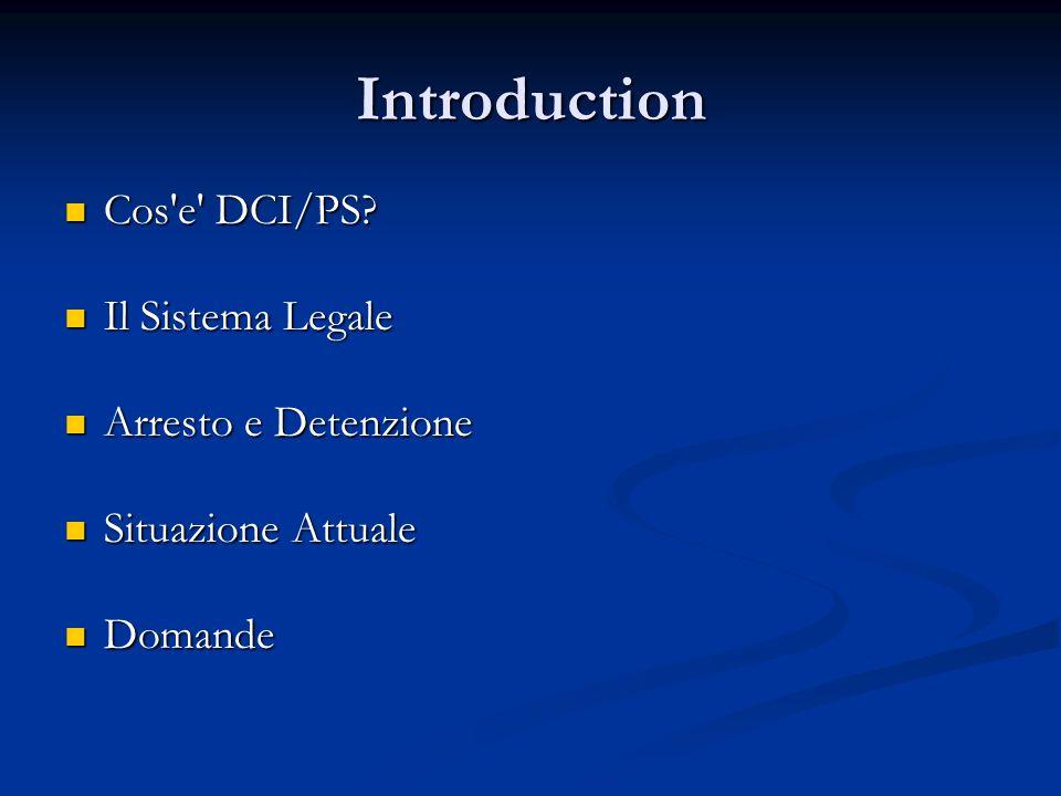 Introduction Cos e DCI/PS.Cos e DCI/PS.