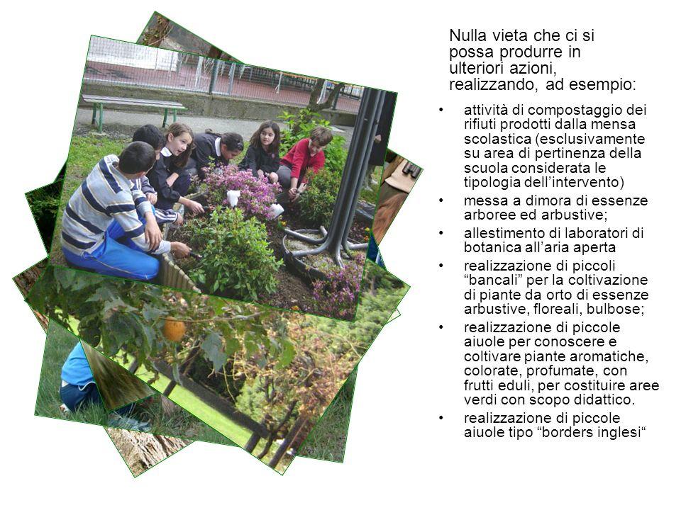 attività di compostaggio dei rifiuti prodotti dalla mensa scolastica (esclusivamente su area di pertinenza della scuola considerata le tipologia delli