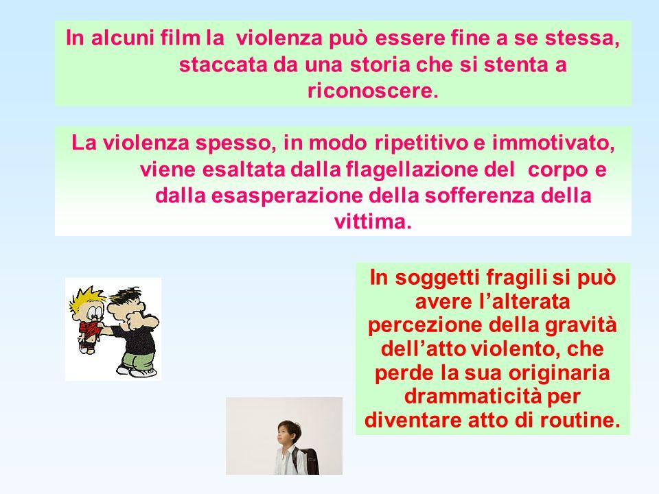 In alcuni film la violenza può essere fine a se stessa, staccata da una storia che si stenta a riconoscere. La violenza spesso, in modo ripetitivo e i