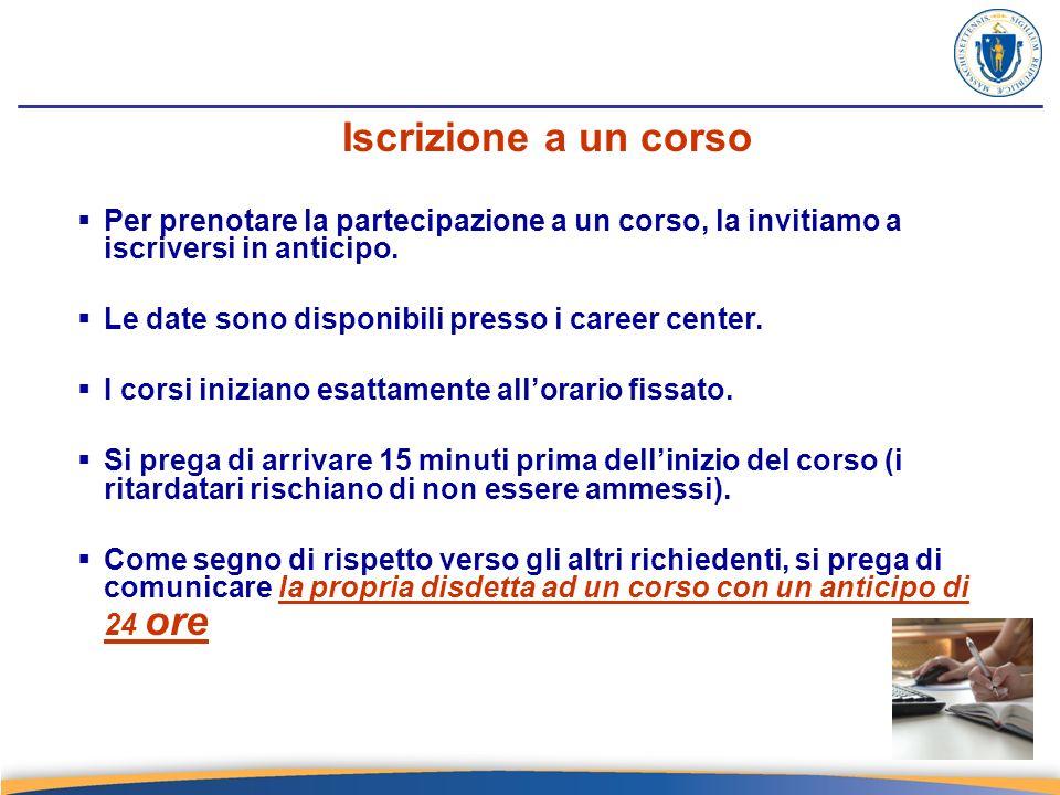 Risorse in rete www.mass.gov/jobquest www.mass.gov/dwd/cis http://us.jobs http://www.careermag.com/