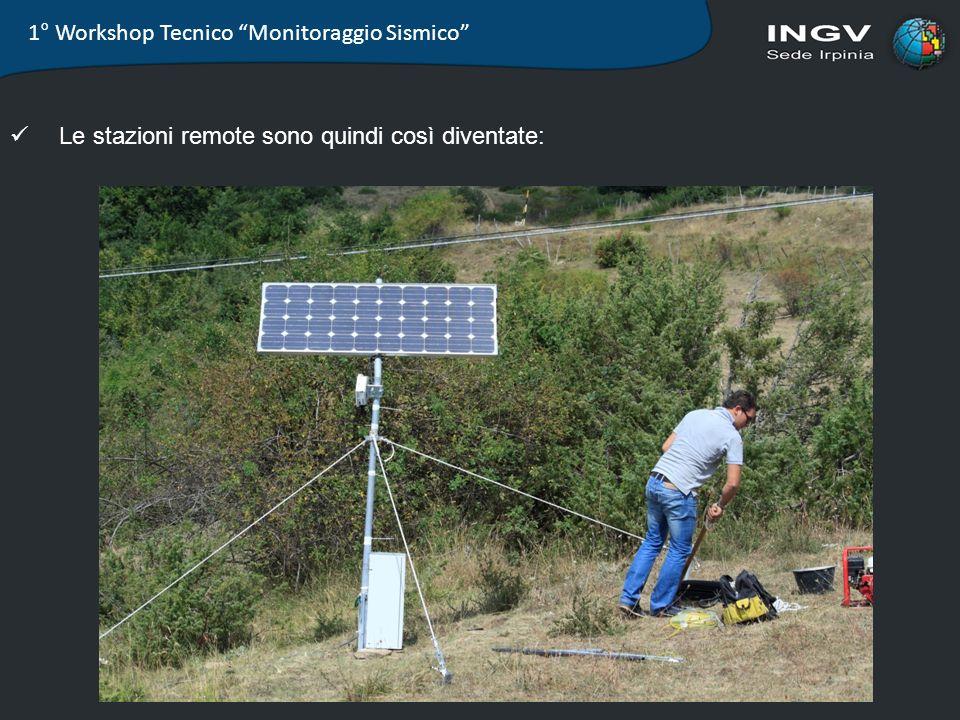 1° Workshop Tecnico Monitoraggio Sismico Le stazioni remote sono quindi così diventate: Struttura 32
