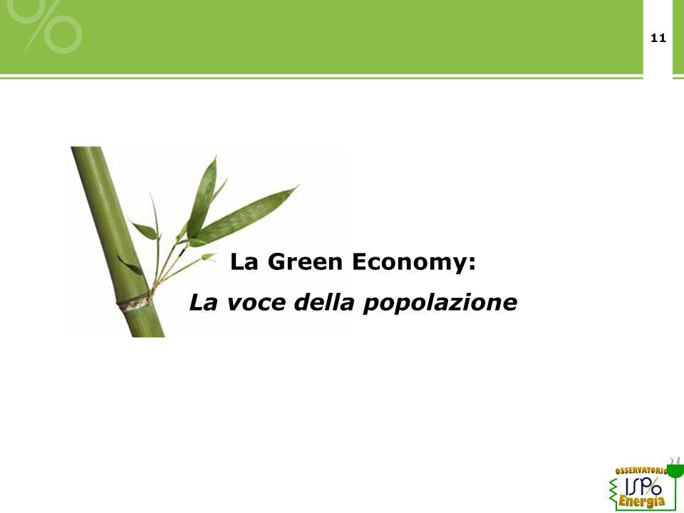 11 La Green Economy: La voce della popolazione