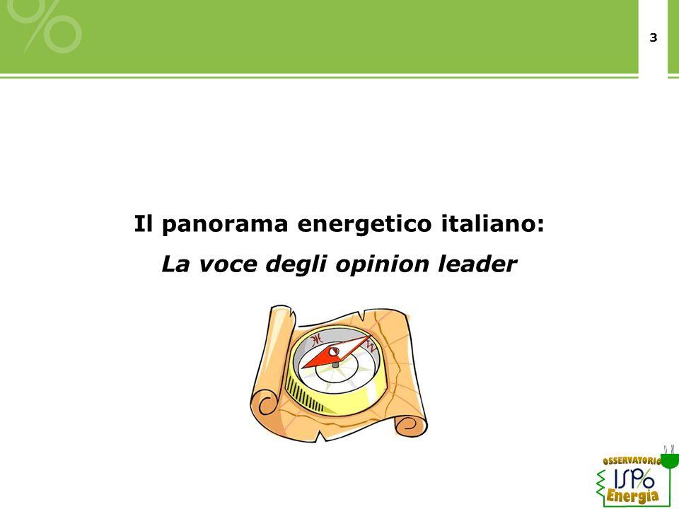3 Il panorama energetico italiano: La voce degli opinion leader