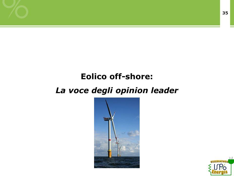 35 Eolico off-shore: La voce degli opinion leader