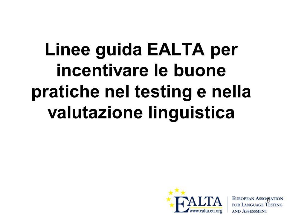 5 Linee guida EALTA per incentivare le buone pratiche nel testing e nella valutazione linguistica