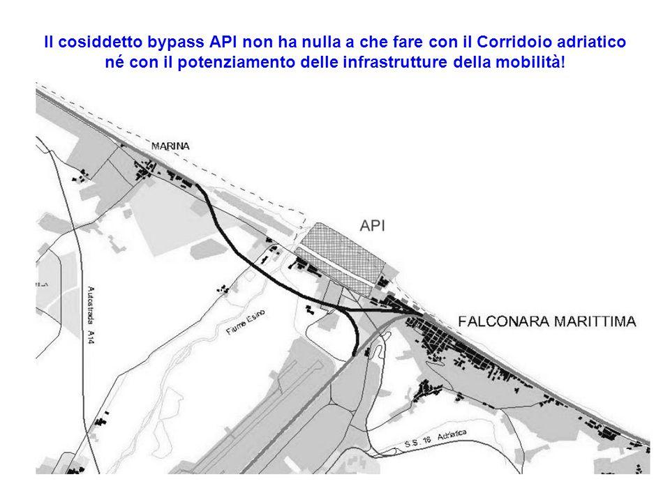 Il cosiddetto bypass API non ha nulla a che fare con il Corridoio adriatico né con il potenziamento delle infrastrutture della mobilità!