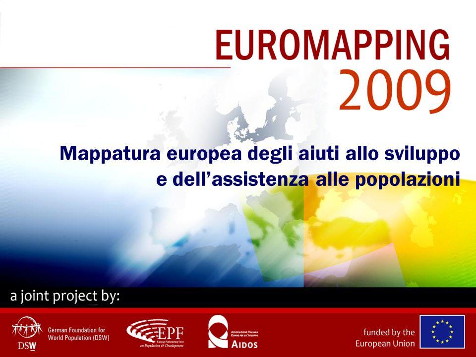 Fonte: UNFPA & NIDI Resource Flows for Population Activities Lex UE-15 e gli USA contano per il 70% dei contributi mondiali allassistenza per le popolazioni nel 2006 Per la prima volta, lex UE-15 ha superato gli USA diventando il maggiore donatore.