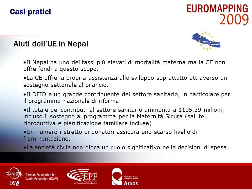 Il Nepal ha uno dei tassi più elevati di mortalità materna ma la CE non offre fondi a questo scopo. La CE offre la propria assistenza allo sviluppo so