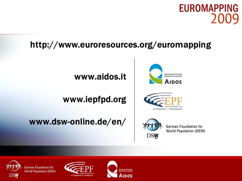 www.aidos.it www.iepfpd.org www.dsw-online.de/en/ http://www.euroresources.org/euromapping