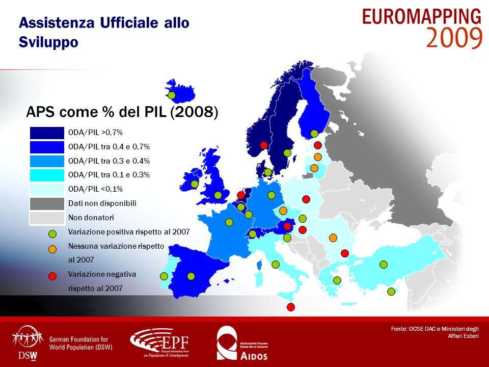 Quota UE – APS mondiale Esborsi netti in miliardi USD (2008) * Include Norvegia, Svizzera e Islanda.