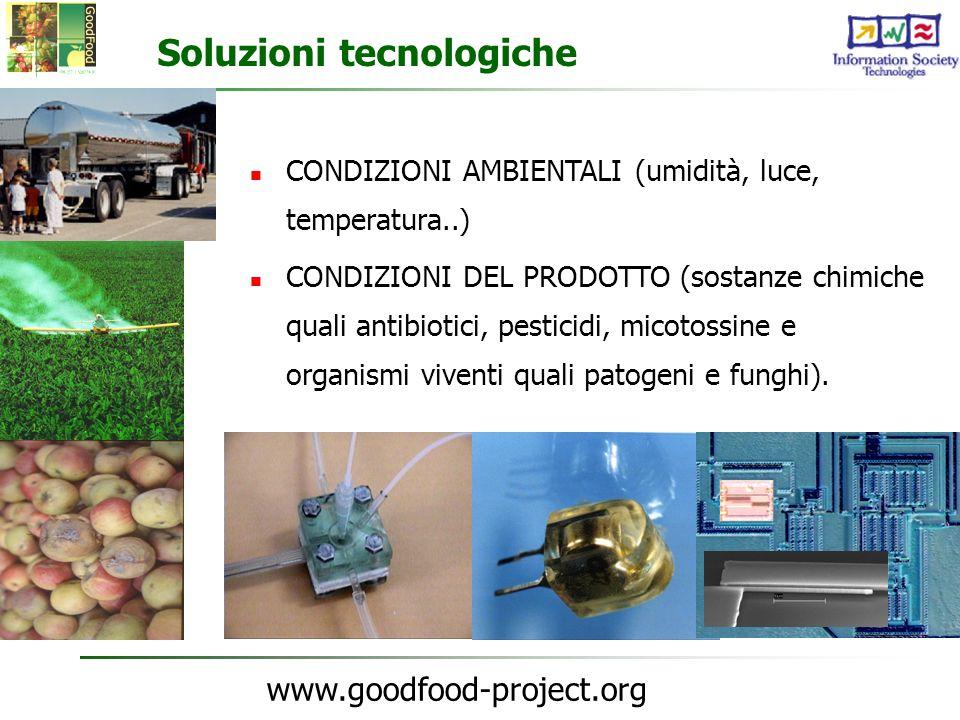 www.goodfood-project.org Soluzioni tecnologiche CONDIZIONI AMBIENTALI (umidità, luce, temperatura..) CONDIZIONI DEL PRODOTTO (sostanze chimiche quali