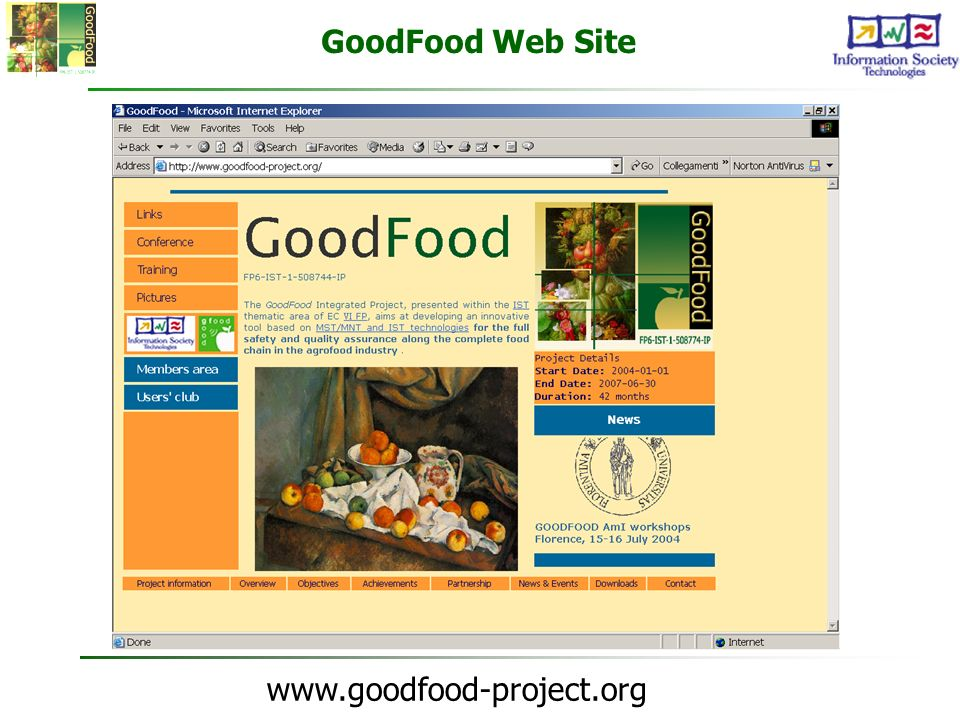 www.goodfood-project.org GoodFood Web Site