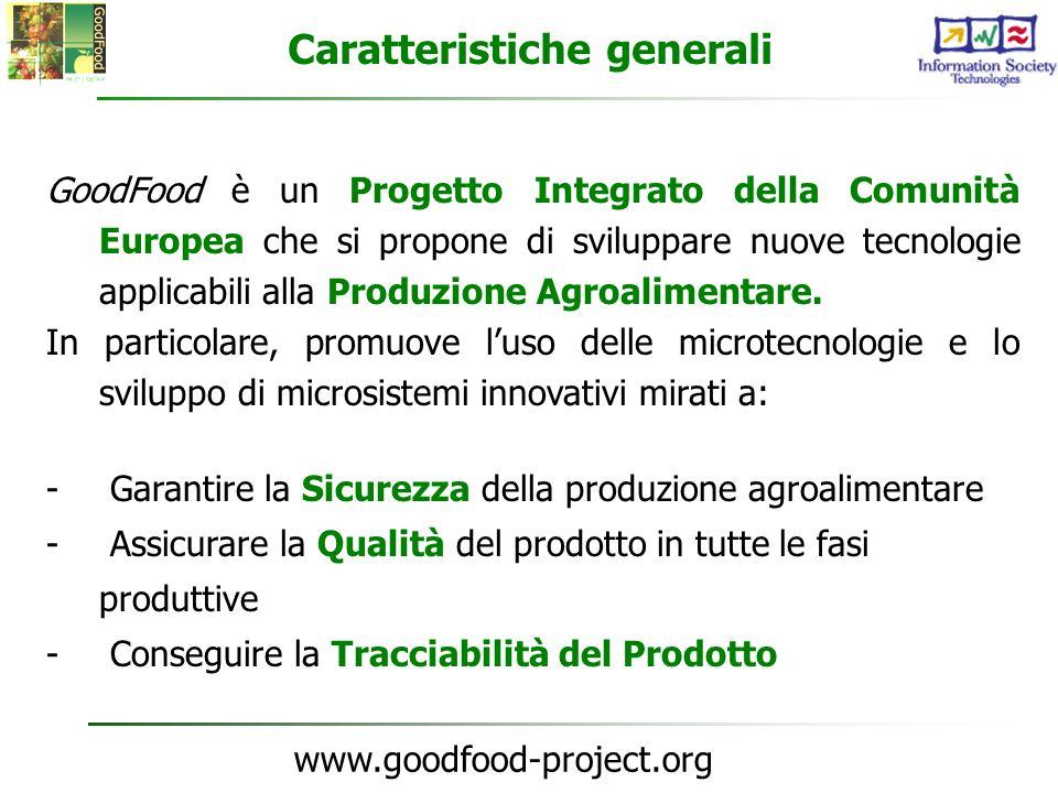 www.goodfood-project.org Informazioni Generali Budget17.5 M Nº Partner29 Nº Paesi10 Data di inizio 01-01-2004 Durata 42 mesi Contributo EC9 M