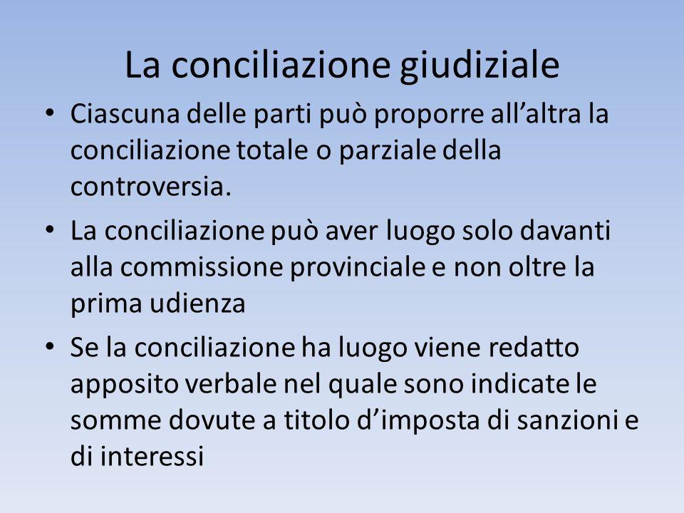 La conciliazione giudiziale Ciascuna delle parti può proporre allaltra la conciliazione totale o parziale della controversia. La conciliazione può ave