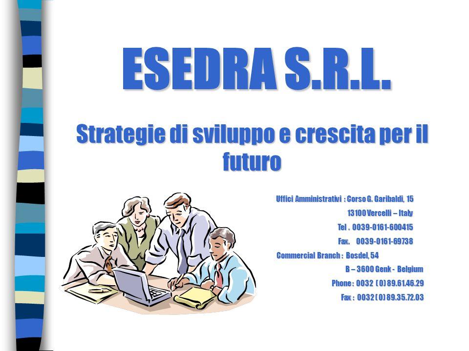Strategie di sviluppo e crescita per il futuro Uffici Amministrativi : Corso G. Garibaldi, 15 Uffici Amministrativi : Corso G. Garibaldi, 15 13100 Ver