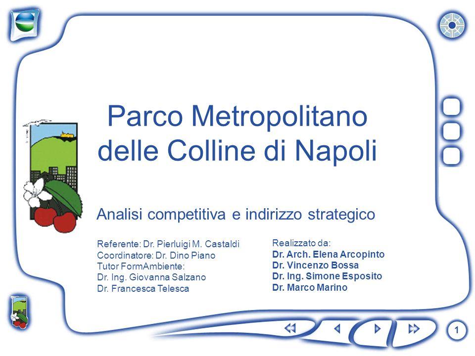 1 Analisi competitiva e indirizzo strategico Parco Metropolitano delle Colline di Napoli Referente: Dr. Pierluigi M. Castaldi Coordinatore: Dr. Dino P