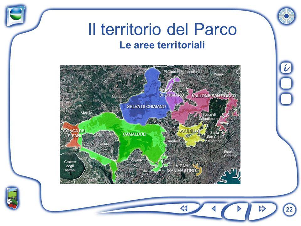 22 Il territorio del Parco Le aree territoriali i