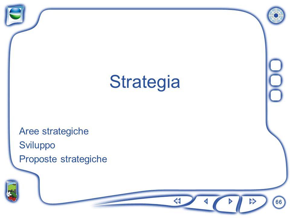 66 Aree strategiche Sviluppo Proposte strategiche Strategia