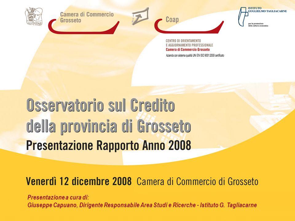 2 Ledizione 2008 dellOsservatorio fotografa la situazione del credito nel territorio grossetano in diversi momenti.